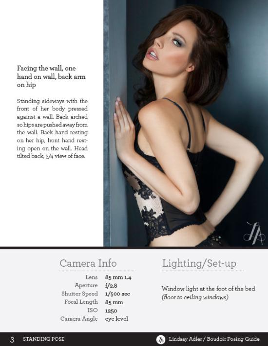 Boudoir posing women leaning on wall - Lindsay Adler Photography