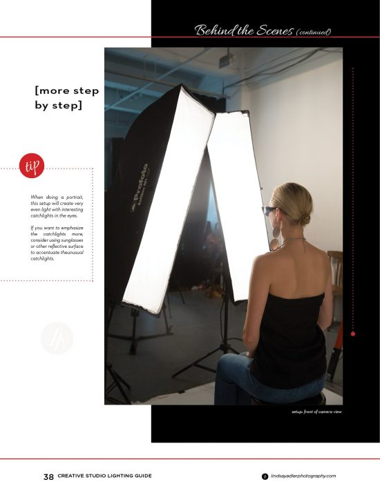 Creative Studio Lighting Guide with twin softboxes - Lindsay Adler