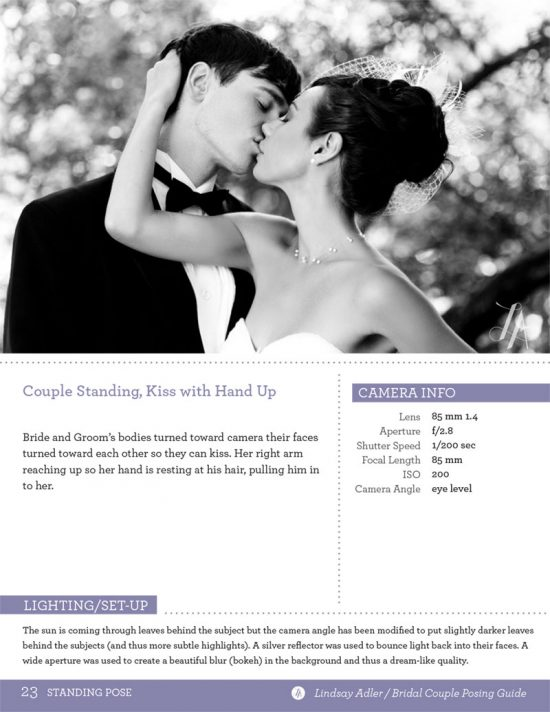 The Bridal Couple Posing Guide by Lindsay Adler - husband and wife kissing