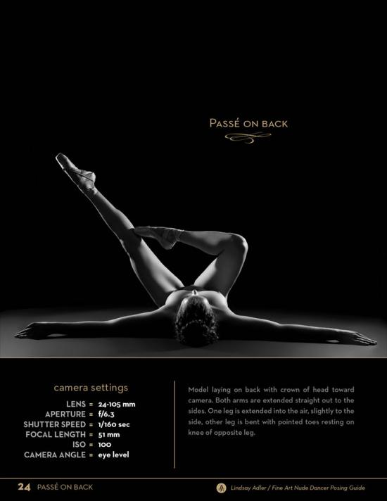 Fine Art Nude Dancer Posing Guide - Passe on back - Lindsay Adler Photography