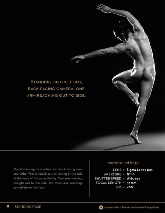 Fine Art Nude Male Posing Guide by Lindsay Adler - male model standing on one foot back toward camera