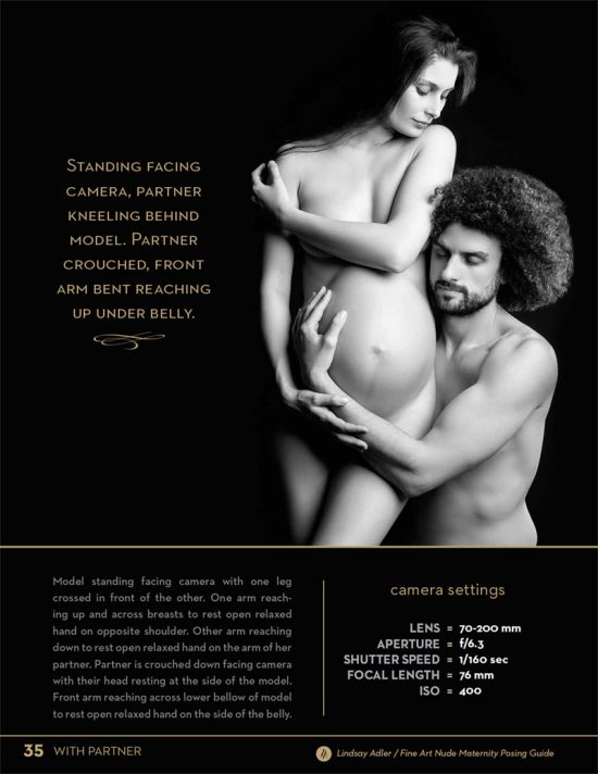 Fine Art Nude Maternity Guide by Lindsay Adler - husband and wife posing with hands on stomach