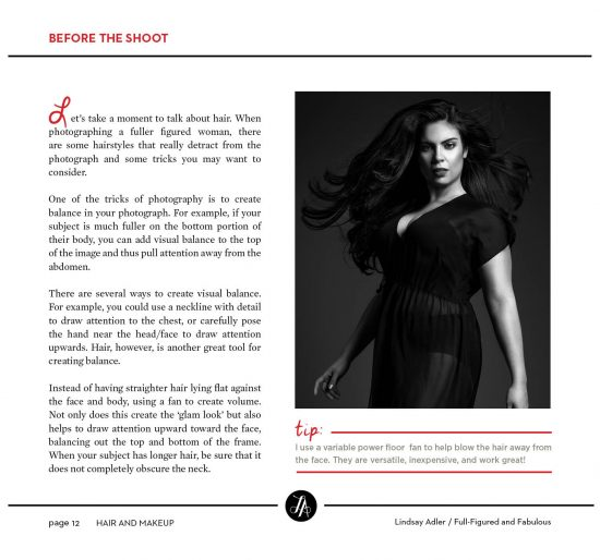 Full-Figured and Fabulous Posing Guide book sample - Lindsay Adler