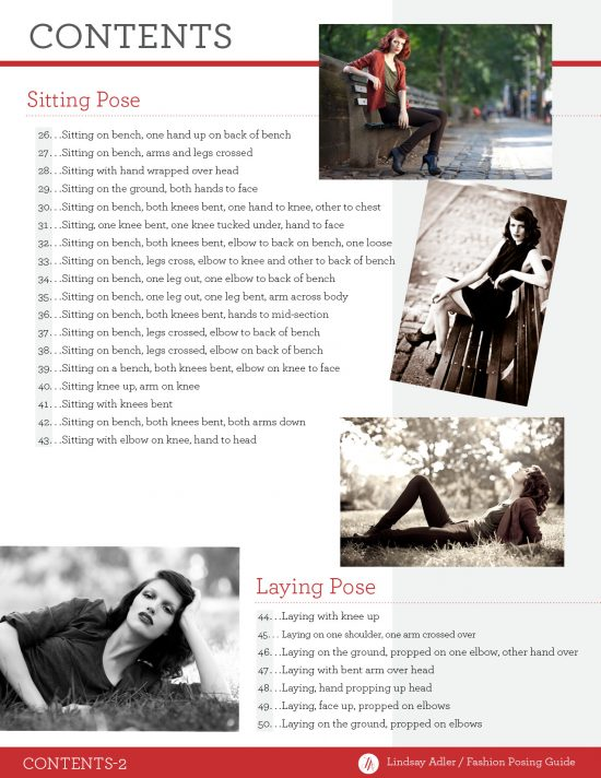 Lindsay Adler - Fashion Posing Guide - Table of Contents