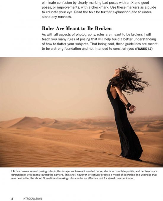 The Photographers Guide to Posing by Lindsay Adler - book page sample