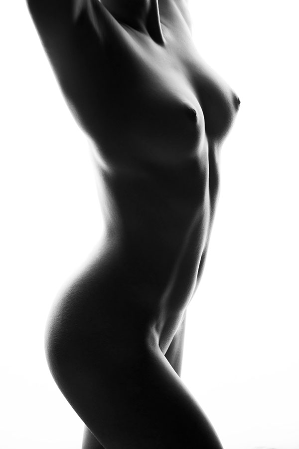 Fine Art Nude photography training - model posing high key - Lindsay Adler Photography
