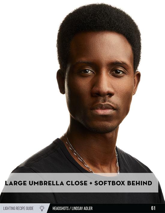 Headshot Lighting Recipe Guide - Lindsay Adler Photography - African American Model on white backdrop