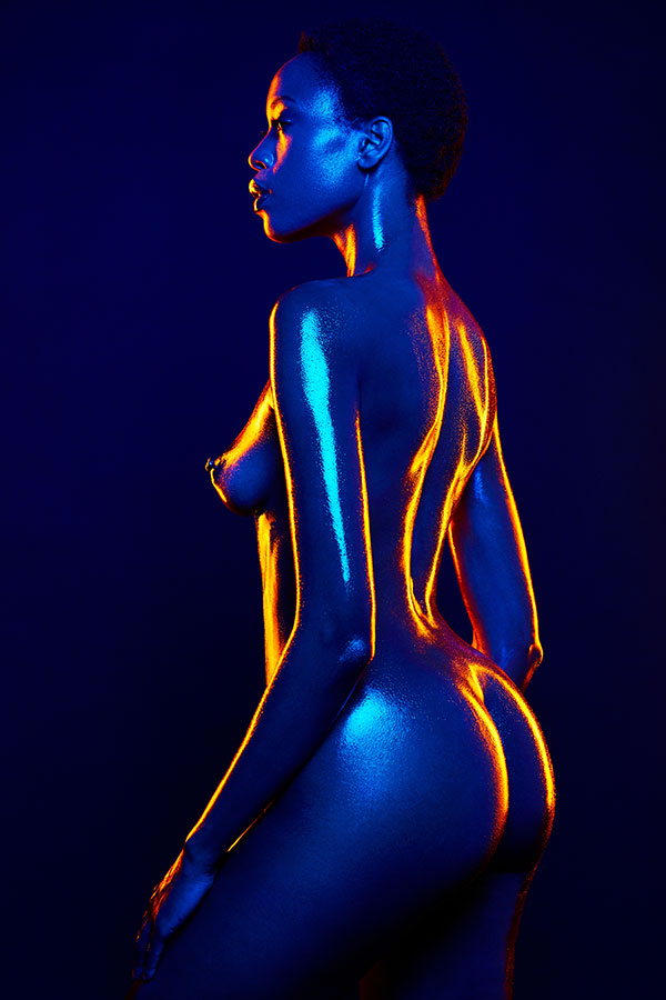 Gels body silhouette - The Conceptual Fine Art Nude - Lindsay Adler Photography