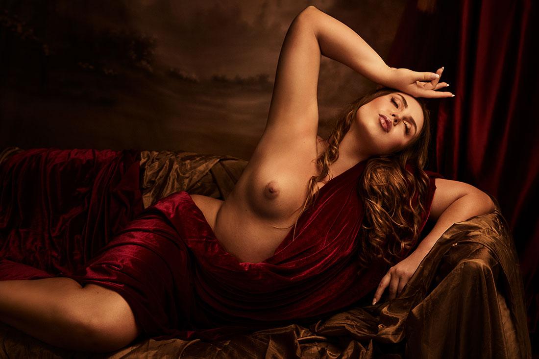 Painterly renaissance conceptual art nude - Lindsay Adler Photography