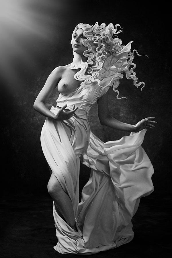 Conceptual fine art nude statue model - LIndsay Adler Photography