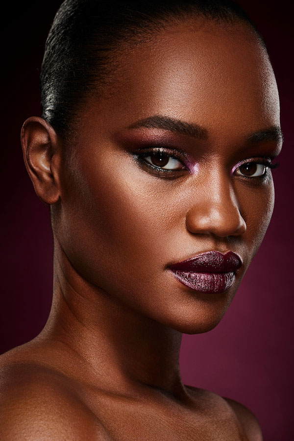 The Beauty Class - Lindsay Adler Photography - African American Model with purple makeup