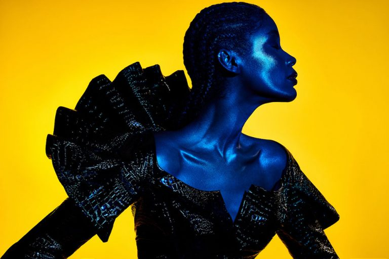 Finding Your Style - Lindsay Adler Photography - african american model high key gels yellow and blue
