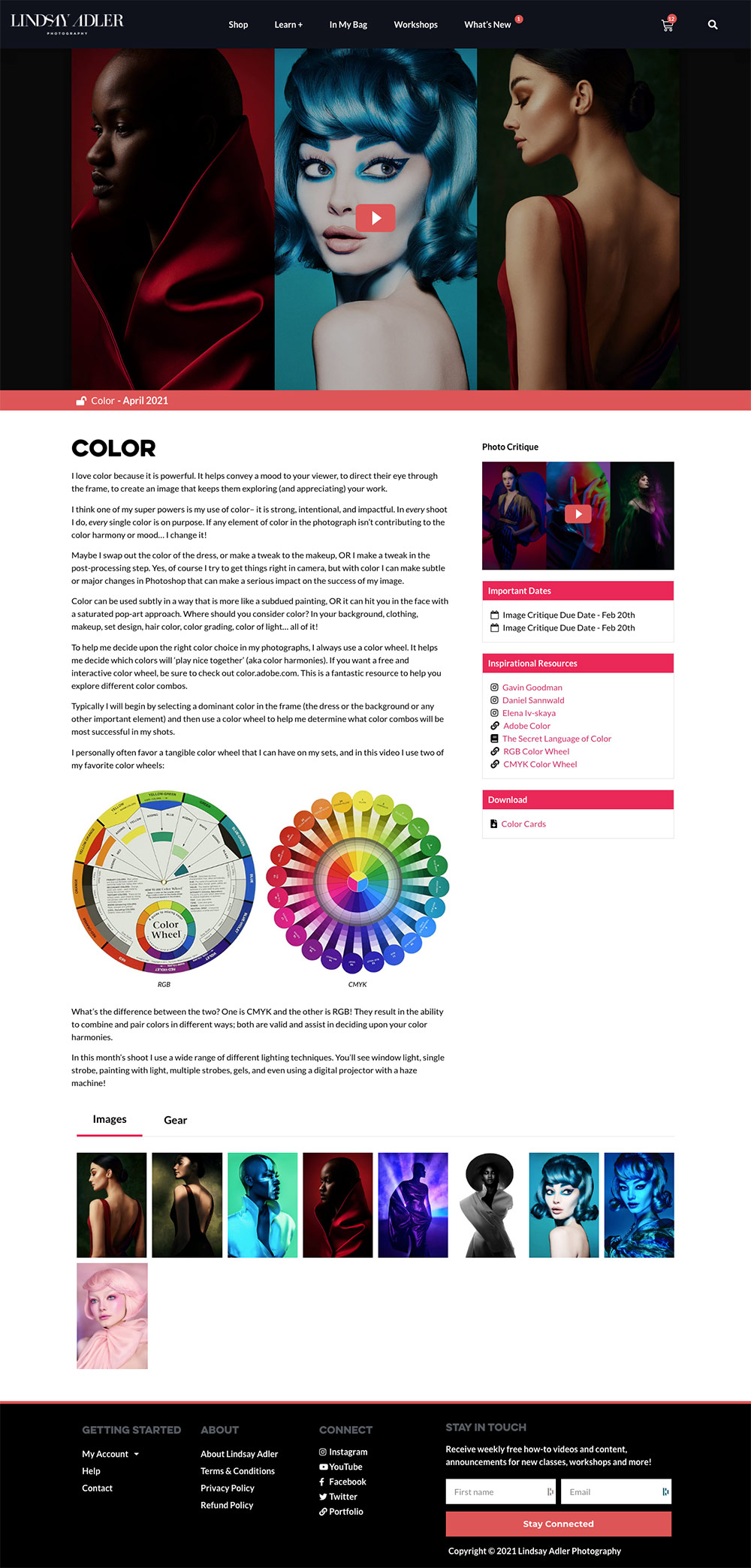 Learn Plus - Color Month - Lindsay Adler Photography