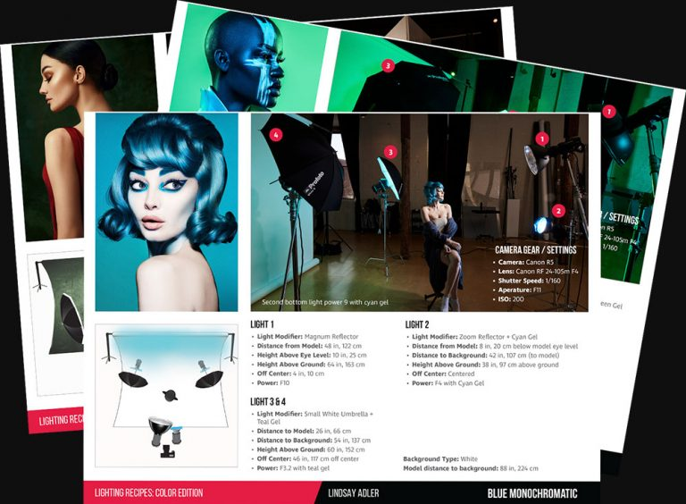 Lighting Recipe Cards - Lindsay Adler Photography - Learn Plus