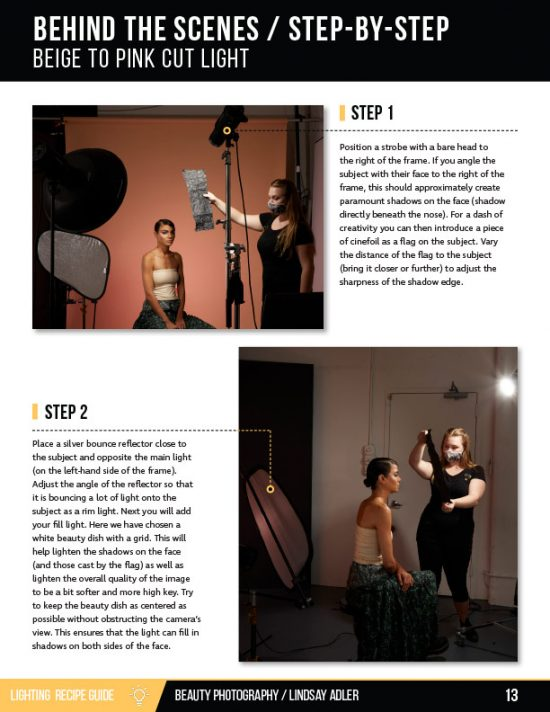 Beauty Lighting Recipe Guide - Lindsay Adler Photography - behind the scenes