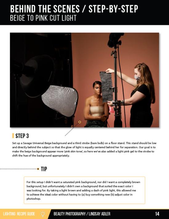 Beauty Lighting Recipe Guide - Lindsay Adler Photography - bts