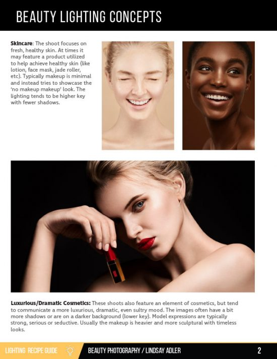 Beauty Lighting Recipe Guide - Lindsay Adler Photography - intro