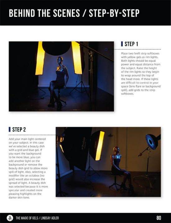 The Magic of Gels Recipe Guide - Lindsay Adler Photography - warm cool contrast, african american model with gels